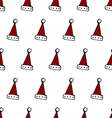 Classic colored red and white Christmass cap vector image vector image