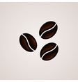 Coffee beans signs logo template vector image vector image