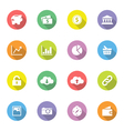Colorful flat icon set 4 on circle long shadow vector image