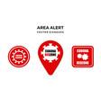 corona red zone area alert sign vector image