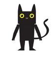 cute halloween cat cartoon character vector image vector image