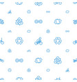 cycle icons pattern seamless white background vector image vector image