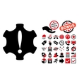 Danger Flat Icon with Bonus vector image vector image
