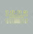 decorative hollow serif font vector image vector image
