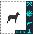 dog icon flat vector image