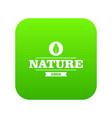 eco greens icon green vector image vector image
