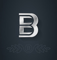elegant silver font Letter B Template for company vector image