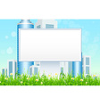 Empty Billboard in the Grass vector image vector image