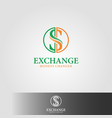 exchanges - moneys changer logo template vector image