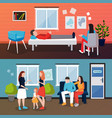 family psychologist compositions set vector image