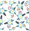 floral pattern flowers leaves berries seamless vector image vector image