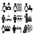 food culinary jobs occupations careers - cook vector image