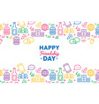 friendship day colorful party icon greeting card vector image vector image