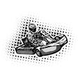 Go Kart Racer vector image