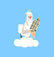 god on white cloud with halo over his head sitting vector image vector image