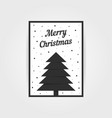 gothic christmas card with black xmas tree vector image vector image