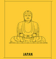 great buddha kamakurahand drawn sketch vector image