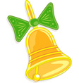 handbell with green bow vector image