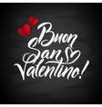 Happy Valentines Day Card Italian Calligraphic vector image