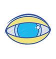 human eye to optical vision icon vector image vector image
