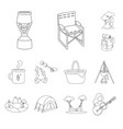 isolated object hoband travel symbol set of vector image vector image