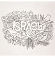 Israel hand lettering and doodles elements vector image vector image