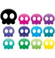 jellyfish skulls vector image vector image