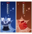 magician labels vector image