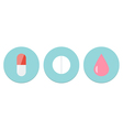 Meds Icon Set vector image vector image