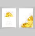 minimal wedding invitation card template design vector image vector image