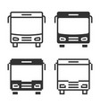 monochromatic bus icon in different variants line vector image vector image