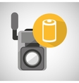 movie video camera roll negarive vector image vector image