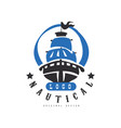 nautical logo original design retro badge with vector image vector image