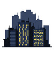 night cityscape flat style landscape on white vector image