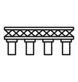 old railroad bridge icon outline style vector image