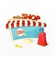 Online Shop concept vector image vector image