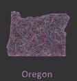 Oregon line art map vector image vector image