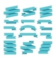 Paper banners ribbons in origami style vector image vector image