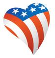 patriotic american flag usa heart vector image vector image