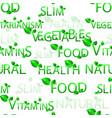 pattern vegetables vegetarianism vitamins vector image