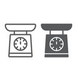 scale line and glyph icon measurement and weight vector image vector image