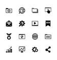 seo - flat icons vector image
