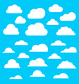 set a cloud2 vector image vector image