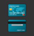 set of credit card flat vector image vector image