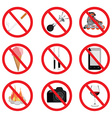 Set of no sign vector image vector image