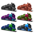 set old steam locomotive vector image vector image