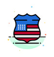 shield sign usa security abstract flat color icon vector image vector image