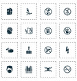 sign icons set with electrocution hazard beware vector image