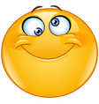 silly eyes emoticon vector image