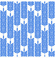 simple abstract pattern blue colored ethnic vector image